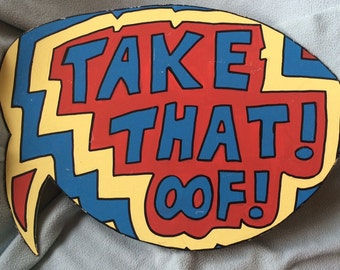 Comic Style Speech Bubble Sign