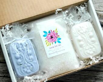 Lavender Gift Set . Best Friend Birthday Gift . Spa Gift Box . Soap Gift Set . Bridesmaid Gift Set . Bridesmaid Box . Mother's Day Gift Set