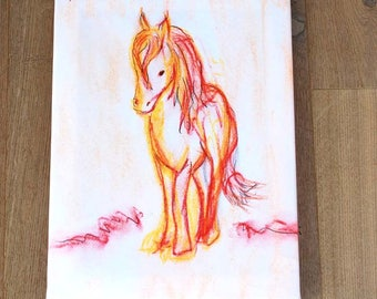 Horse Print on canvas