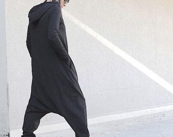 Hoodie, long sleeve dress, hoodie dress, winter warm dress, hooded dress, black hoodie dress, plus size dress, maxi dress, plus size dress