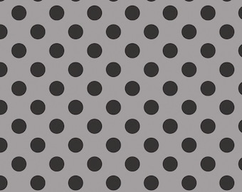 "BLACK Medium Dots ~ 3/4"" Diameter Dots ~ Tone-on-Tone ~ 100% Cotton Fabric ~ 1/2 yard ~ 18"" x 44"" ~ from Riley Blake C430-110"