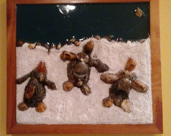 Sea Turtle wall art Homeward Bound Coastal Collage Conservation Emerald Coast original  handmade art Christmas Gift