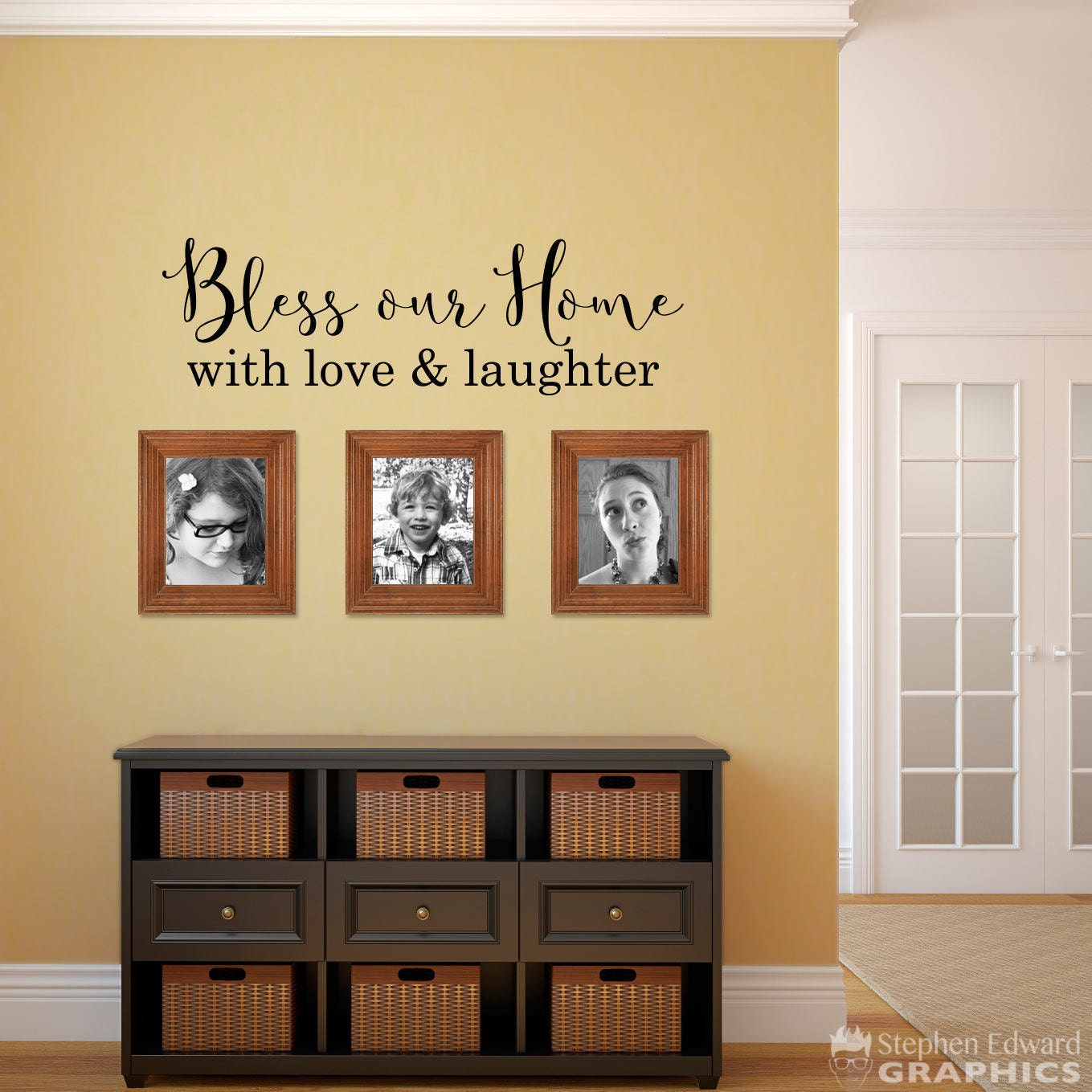 Bless our Home with love & laughter Decal Home Wall Decal