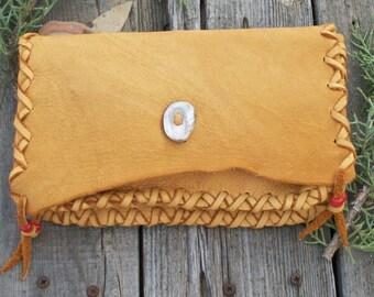 Soft leather phone bag , Soft leather clutch , Tobacco bag , Medicine bag