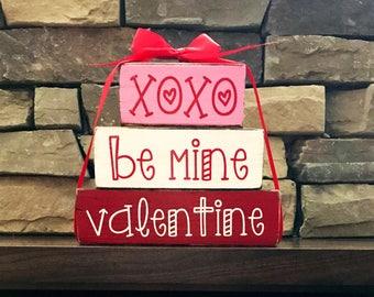 "Valentine ""chunky"" stacker-xoxo be mine"
