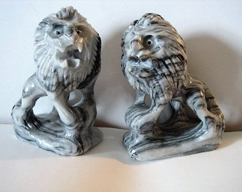 Marble Hand Carved Lions from Viet Nam