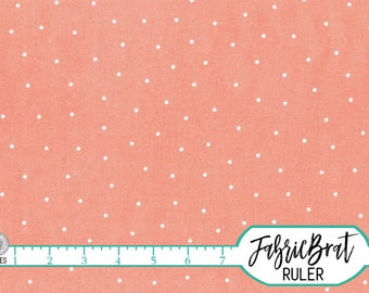 CORAL DOT Fabric by the Yard Fat Quarter CORAL Fabric Polka Dot Fabric Quilting Fabric Apparel Fabric 100% Cotton Fabric Yardage a5-26