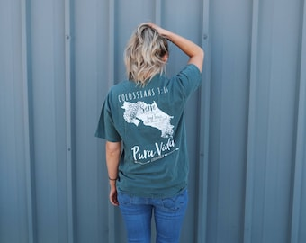 You Are Loved Comfort Colors T-Shirt Bluespruce : Mission Trip Fundraiser | Pura Vida