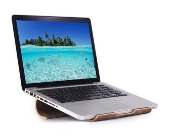 Walnut Laptop Stand Made In The Usa Macbook Pro Laptop