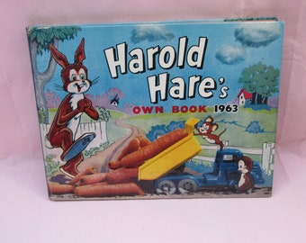 Vintage 1963 Children's Book - Harold Hare's Own Book 1963