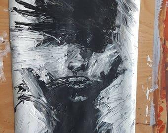 Acrylic original portrait painting