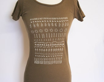 Brown Earth Organic Scoop Neck