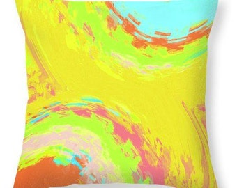 Summer Joy 2 - decorative throw pillow, vibrant colors, square pillow, lumbar pillow, colourful scatter cushion, home decor, interior accent