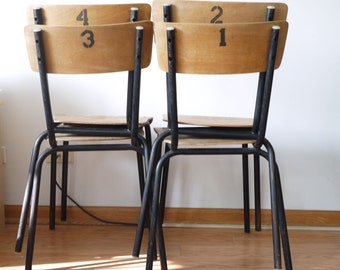 French Mullca School Chairs ...