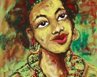 Should i pose,African painting,African art,Hand painting.