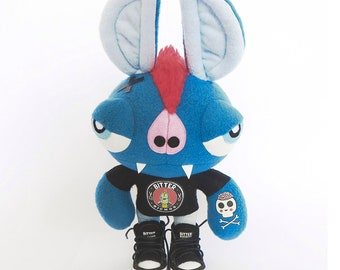 Handmade plush Toy/original plush toy/stuffed eyes/plush big eyes/art teddies/Art dolls/Collectible dolls/Monster