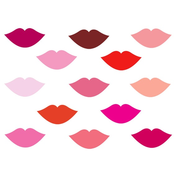60 off sale digital clip art for mother s day pink lips rh etsy com