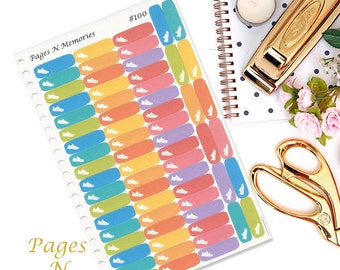 Steps Planner Stickers/ Exercise Stickers/ Health Stickers/ Erin Condren/ Plum Paper/ Inkwell Press/ Happy Planners   #100