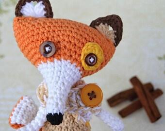 Crochet pattern - Fox by VendulkaM - amigurumi/ crochet toy, digital pattern, DIY, pdf