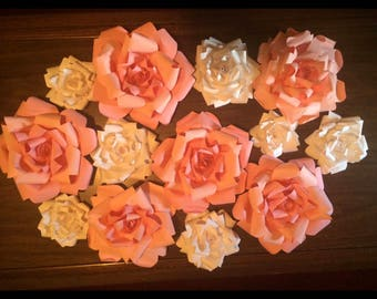 Paper Flower Arch or Wall arrangement