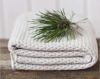 Light grey blanket - 100% merino wool - Kids throw blanket