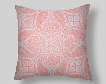 Pink  Pillow, Pink Throw Pillow, Pillow Cover,Pink Decorative Pillow,  Euro Sham Beach,  Cushion. ALL Sizes
