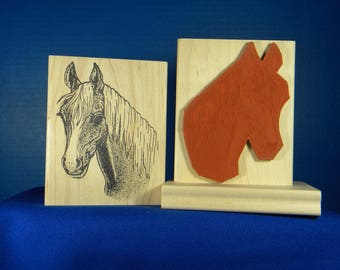 Horse rubber stamp animal rubber stamp, scrapbooking card making