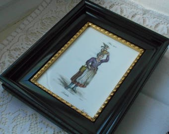 Rare stunning vintage signed Limoges porcelain wall picture