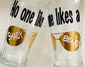 Shady Beach Pint Glasses