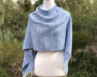Women's Handwoven Poncho in Alpaca & Wool, Ethical Slow Fashion