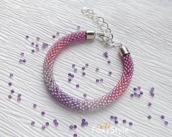 purple bracelet beaded bracelet wedding bracelet bridal bracelet bridesmaid bracelet pink bracelet simple bracelet minimalist bracelet women