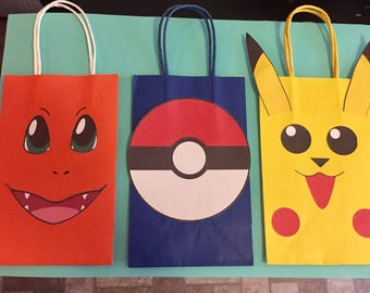 Pokemon Favor Bags- ELECTRONIC DOWNLOAD ONLY