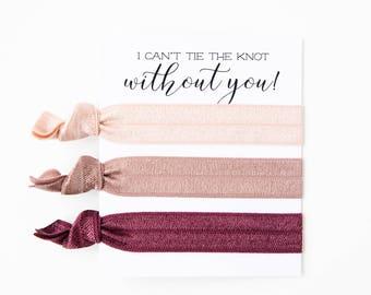 Custom Hair Tie Bridesmaid Gift | Bridesmaid Proposal Gift, Maid of Honor Proposal Gift, Bridal Party Gift Box Idea, Wedding Party Hair Ties