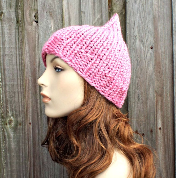 Bubble Gum Pink Gnome Hat Pink Elf Hat - Pink Womens Hat Pink Hat Pink Beanie Pink Knit Hat Womens Accessories Winter Hat