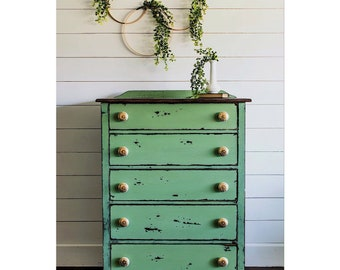 shabby chic distressed furniture. Farmhouse Chippy Green Chest, Painted Furniture, Custom Order, Shabby Chic Distressed Furniture S
