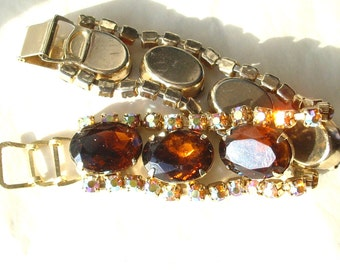 Golden Vintage Rhinestone Bracelet