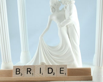 BRIDE Scrabble Letters Sign RECYCLED