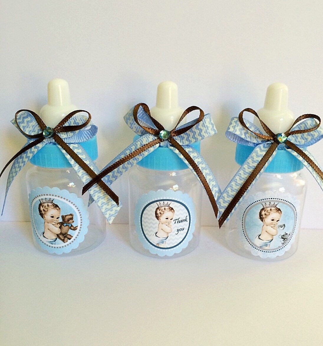 12 Vintage Little prince baby shower favors boy\'s baby
