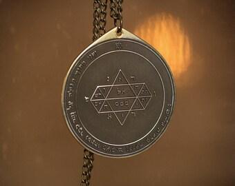 Goetia Fifth Pentacle of Jupiter Solomon kabbalah amulet pendant