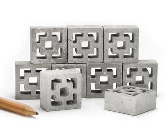 1:12 Scale Breeze Blocks - Vista Vue 9pk | mid century modern breeze block | modern dollhouse | modern miniature | 112 diorama | architect