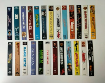 Bookmarks Made from VHS Move Tape Covers