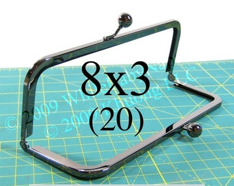 21% OFF 20 Duskcoat Gunmetal(TM) 8x3 purse frame