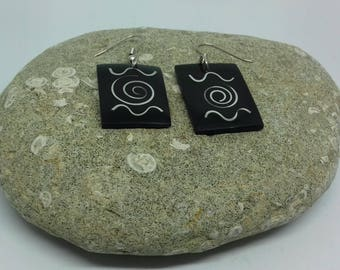 Hippy Style Rectanglar Shape earrings