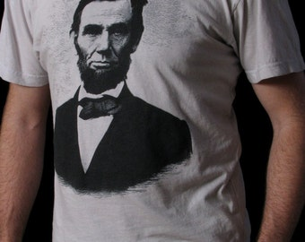 Abraham Lincoln Shirt - Men's T-shirt - Abe Lincoln - American History - History Buff Shirt - S through 3XL tees