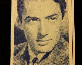 Original 1947 Gregory Peck Turf Cigarette Card, Movie, Star, Hollywood, Vintage, MGM