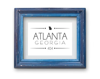 Atlanta Georgia 404 Print {Digital}