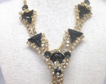 Vintage Estate MEGA *RARE* Juliana DE Rhinestone Beautiful Necklace