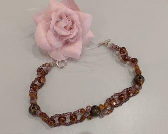 Soft brown bracelet