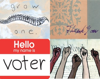 Print-Your-Own Political Postcards - 4 for the price of 1!