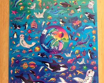 Vintage Lisa Frank XL Sticker Sheet S743-04